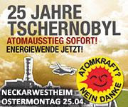 25 Jahre Tschernobyl - AKW Neckarwestheim - Ostermontag 25.04.2011 - 13 Uhr Demonstration ab Bahnhof Kirchheim/N. - www.endlich-abschalten,de